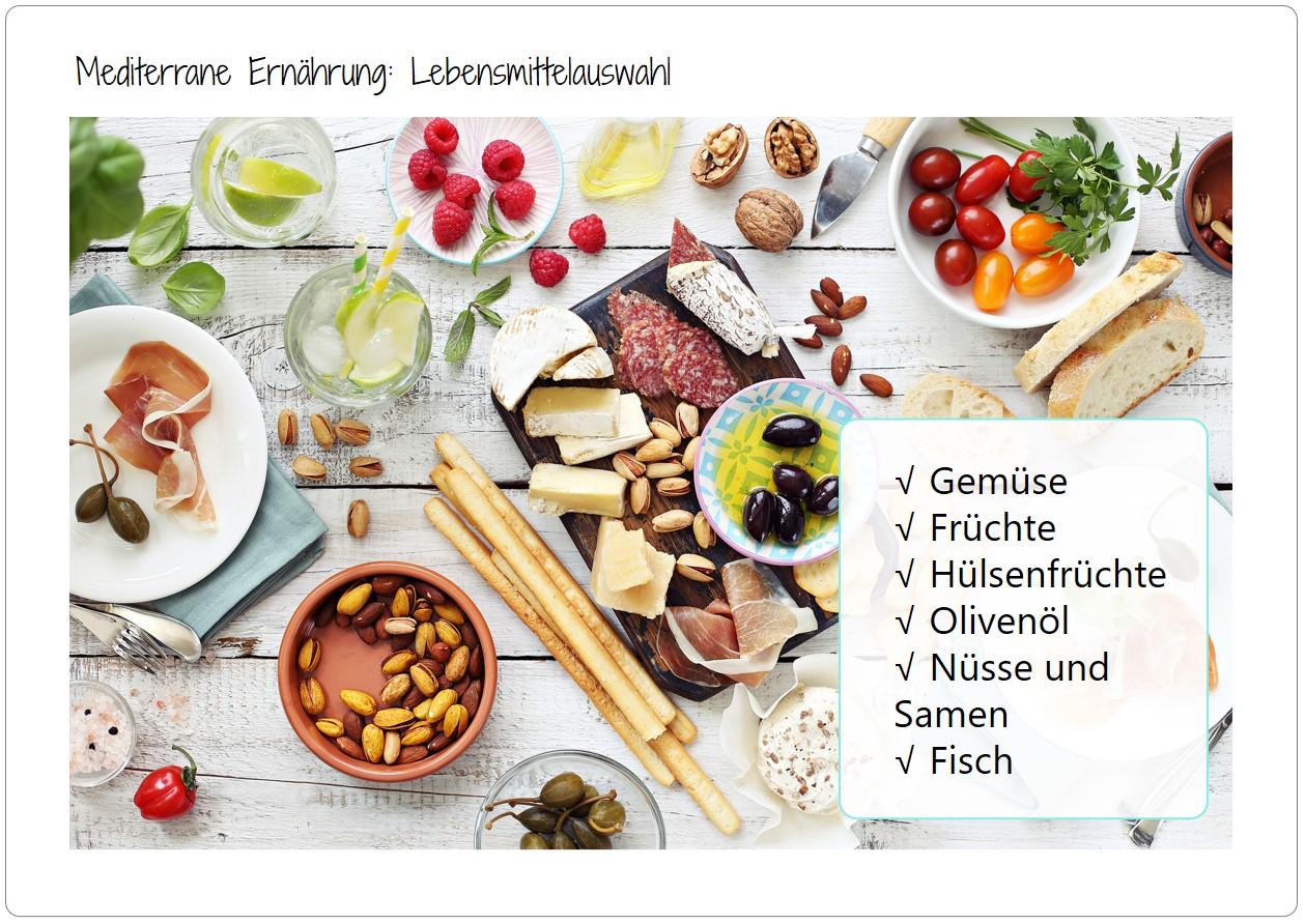 Möglicher Zusammenhang zwischen Demenz/ Alzheimer und mediterraner Ernährung
