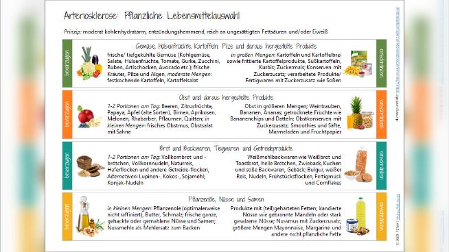 Arteriosklerose (Arterienverkalkung) und KHK - Krankheitsbild und Ernährungstherapie