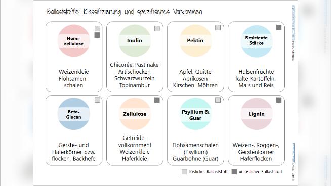 Ballaststoffe (Nahrungsfasern) - Ernährungstherapeutische Aspekte