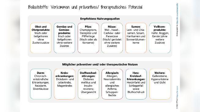 Ballaststoffe: Vorkommen und präventives/ therapeutisches Potenzial