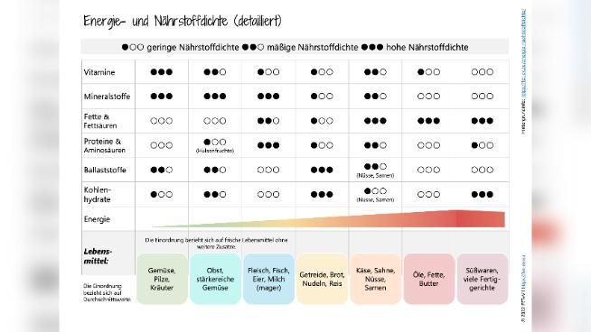 Energie- und Nährstoffdichte von Lebensmitteln