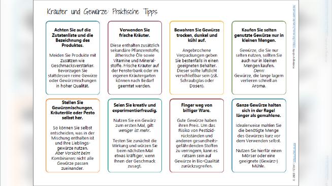 Kräuter und Gewürze: Praktische Tipps