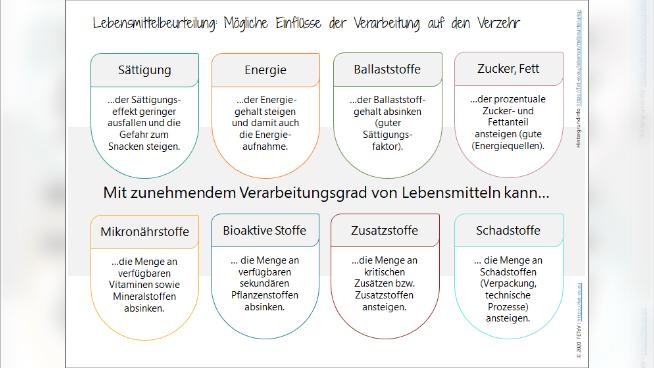Lebensmittelbeurteilung: Mögliche Einflüsse der Verarbeitung auf den Verzehr