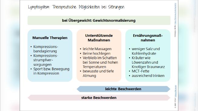 Lymphsystem: Therapeutische Möglichkeiten bei Störungen