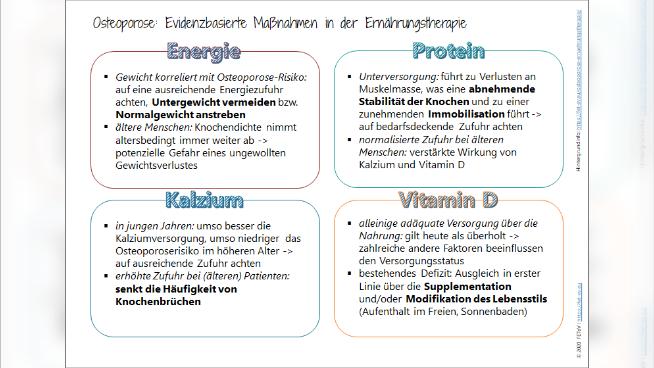 Osteoporose: Evidenzbasierte Maßnahmen in der Ernährungstherapie