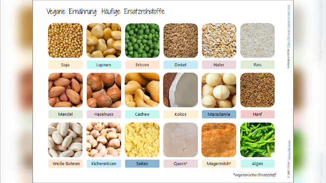 Vegane Ernährung: Häufige Ersatzrohstoffe