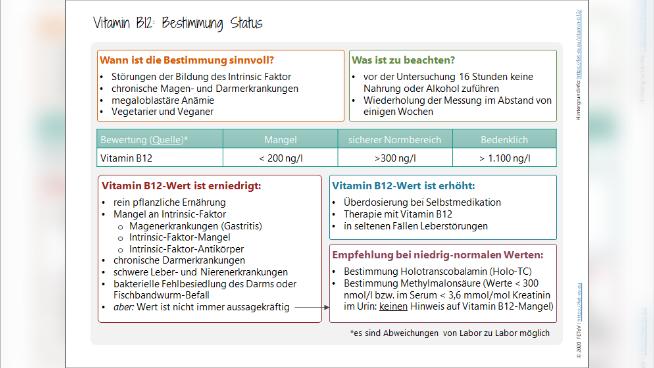Vitamin B12 - Bestimmung Status